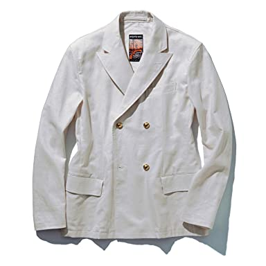 Mighty-Mac Sail Jacket with Metal Buttons: Off White