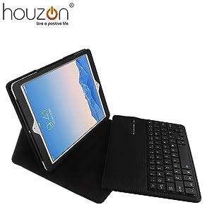HOUZON® Funda Protectora Magnetic Extraíble de Cuero con Teclado Inalámbrico Bluetooth Para iPad Air 2 iPad 6  Electrónica Comentarios de clientes y más información