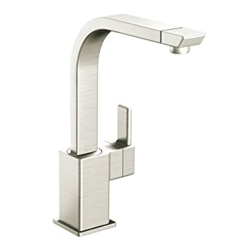 Moen S7170CSL 90-Degree One-Handle High Arc Kitchen Faucet, Classic Stainless