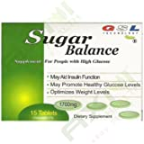 (18 Boxes)Sugar Balance Supplement for People with High Glucose 1700 Mg 15 Tablets Per Box (18 Pack) By GSL