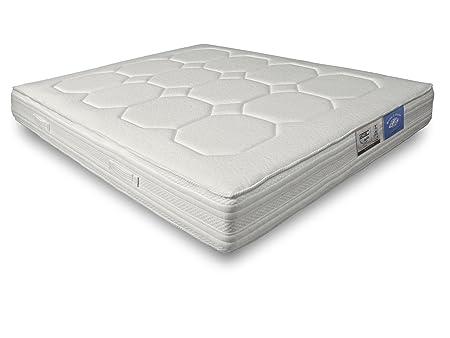 Matelas latex 75 kg MAIA anti-moustiques 7 zones de confort 140 x 190 cm