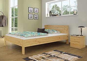 Letto FRANCESE Grand di Lit 140X 200Pino letto in legno massello naturale con roll ruggine 60.68–14