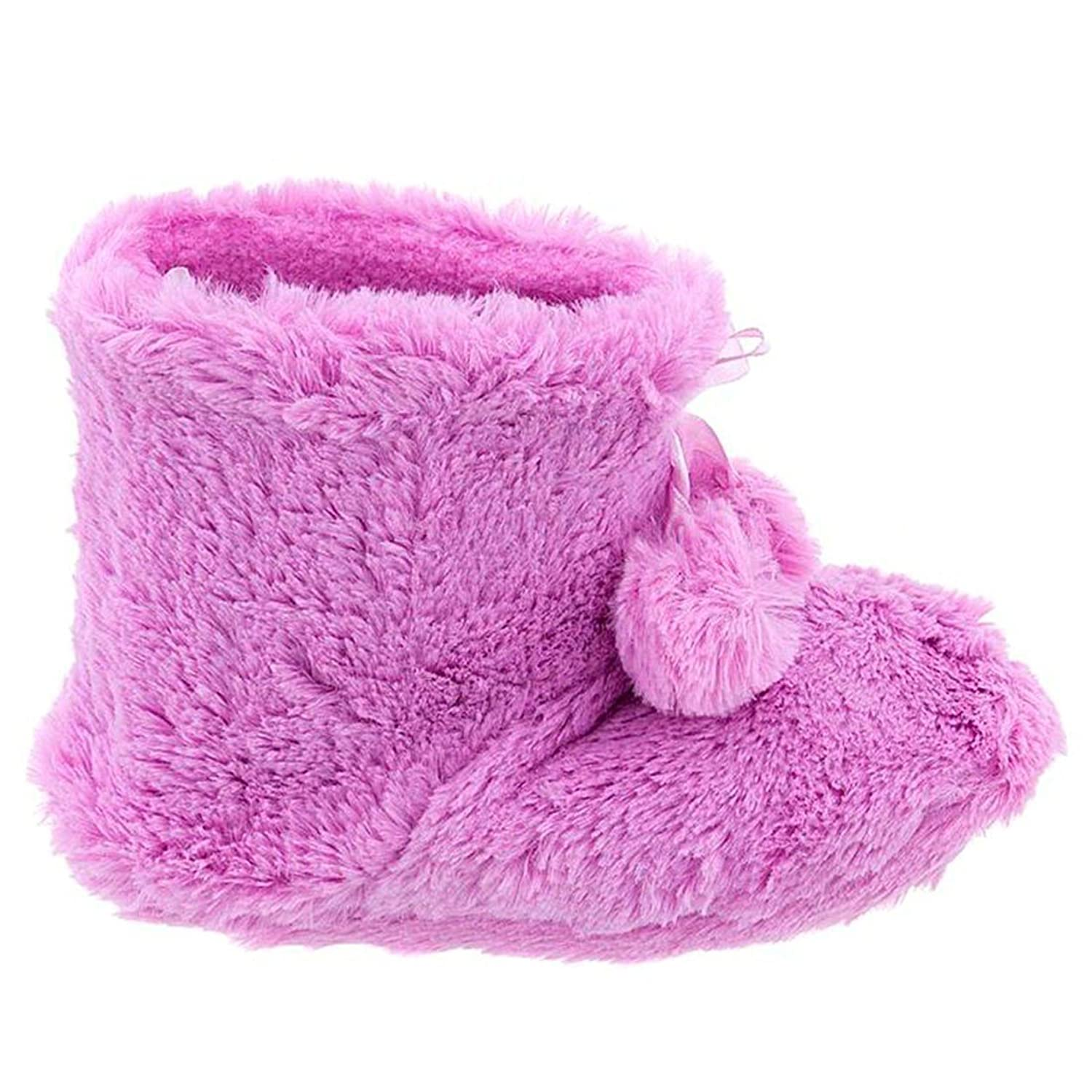 Pink Bootie Slippers for Toddlers and Girls