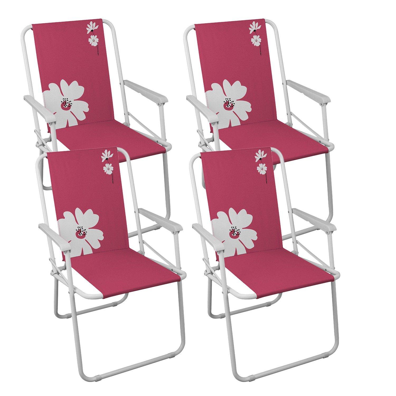 4 Stück Campingstühle Gartenstuhl Klappstuhl – Pink Campingmöbel Gartenmöbel Strandstuhl günstig kaufen