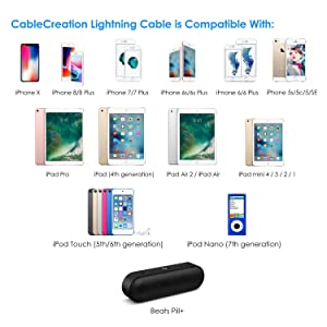 CableCreation Angled Lightning to USB Cable, 4 Feet [MFi Certified] Data Sync Charge Cable, Compatible iPhone X, 8, 8 Plus, 7, 7 Plus, 6S, 6S Plus, iPad, Silver, 1.2 M