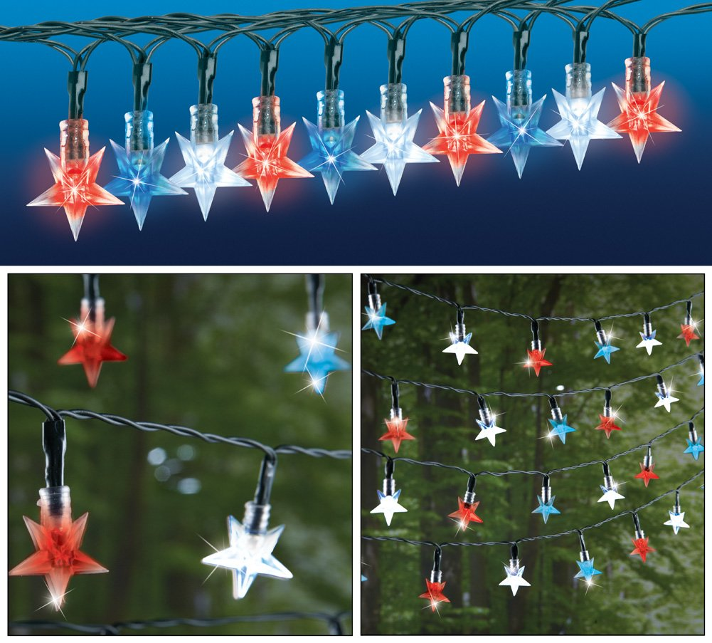 Patriotic String Lights Outdoor : Fourth of July String Lights Fourth Of July Wikii