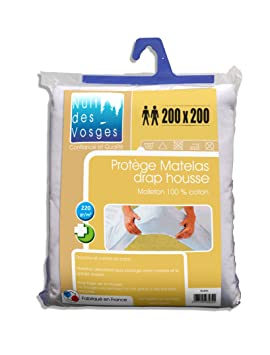 nuit des vosges 2116014 2116014 aubin prot ge matelas absorbant molleton coton. Black Bedroom Furniture Sets. Home Design Ideas