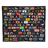 Antrix Coyote Brown Tactical Patch Holder Display Panel Wall Display Board Display Poster Frame Stand for Collecting Military Army Combat Morale Uniform Emblems Patches 35x28