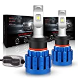 LED Headlight Bulbs, Rigidhorse H7 LED Headlight Bulbs Conversion Kit with 60W 10000LM CREE LED Chips Fog Light For Car Motorcycle, 1 Year Warranty (Tamaño: H7)