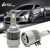 H15 LED Kit Head Light Bulbs Headlights Convertion Kit Headlamps, Plug-N-Play COB Chip High Power 10000LM 50W 6500K Xenon White- 2 Pack (H15)