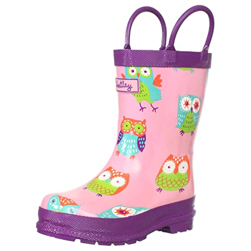 Hatley Little Girls  Children Rubber Boot-Party Owls