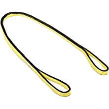 Mazzella EE4 Edgeguard Nylon Web Sling, Eye-and-Eye, Yellow, 4 Ply, Flat Eyes, Vertical Load Capacity