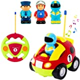 Liberty Imports Cartoon R/C Race Car Radio Control Toy for Toddlers (English Packaging) (Color: Multicolored, Tamaño: No Size)