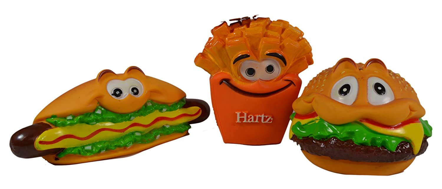 Fast Friends Burger Scented Vinyl Dog Toys Everything Burger