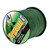 Frwanf Braided Fishing Line 4 Strands Super Strong PE Fishing String ExtremePower Fishing Braid Line for Saltwater and Fresh Water 30 LB Test 500M Moss Green (Color: Moss Green, Tamaño: 30LB/0.26MM(4 Strands) 500M)
