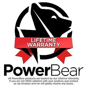 PowerBear AM FM Radio (Portable Radio) Handheld Battery Operated Radio | Long Range and Long Lasting Radio - Black
