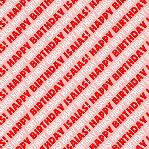 isaias-happy-birthday-premium-gift-wrap-wrapping-paper-roll-red