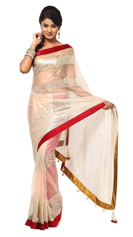Embroidered Designer Net Saree