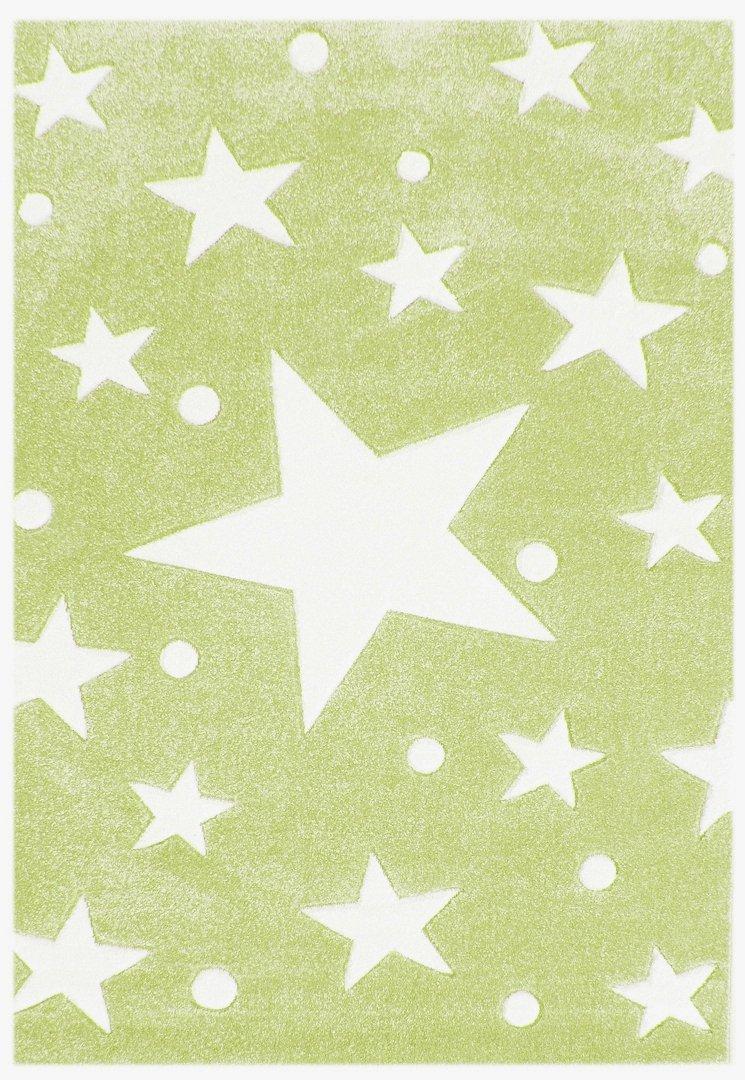 Kinderteppich Happy Rugs STARS hellgrün/weiss 160×230 cm online bestellen