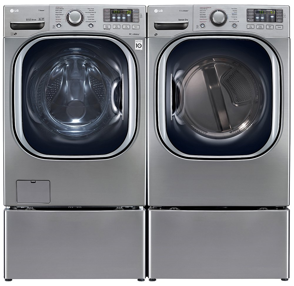 Power Pair Special-LG Turbo Series Ultra-Capacity Laundry System with Steam and Matching Storage Pedestals *GRAPHITE STEEL*(WM4270HVA_DLEX4270V_WDP4V X 2)