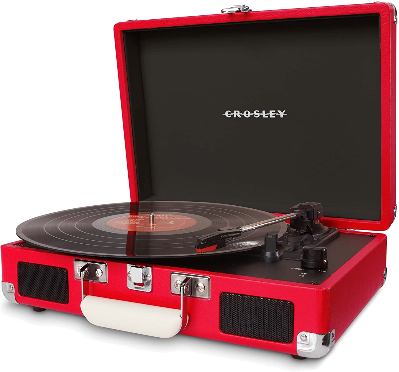 Crosley CR8005A-RE Cruiser Portable 3-Speed Turntable, Red 1