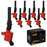 Pack of 8 High Performance Red Ignition Coil for Ford Lincoln Mercury 4.6L 5.4L V8 DG508 C1454 C1417 FD503(Not fit 2004 f150 with 5.4l triton)