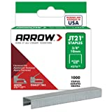 Arrow Fastener 276 Genuine JT21/T27 3/8-Inch Staples, 1,000-Pack (Color: Grey, Tamaño: 3/8 Inch)