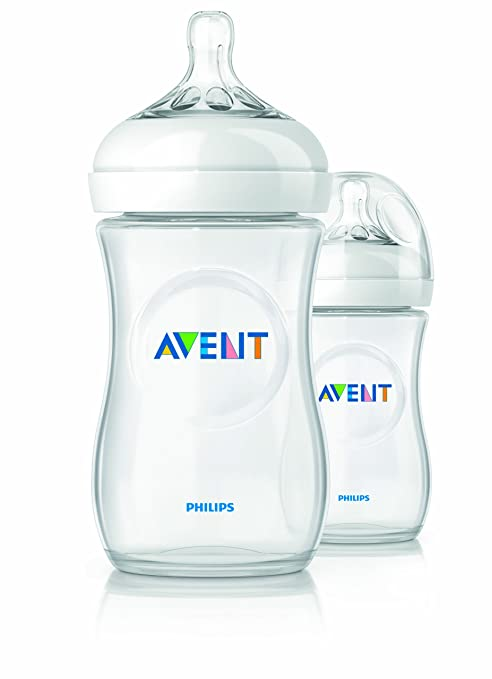Philips Avent BPA Free Natural Polypropylene Bottle, 9 Ounce, 2 Count