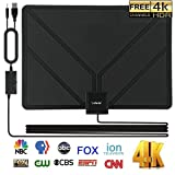HD TV Antenna Digital,Skywire TV Antenna Amplified 150 Mile Range Support 4K 1080P, Indoor Digital HDTV Antenna with Powerful Amplifier Signal Booster – 16ft Coax Cable/Power Adapter (Color: black)