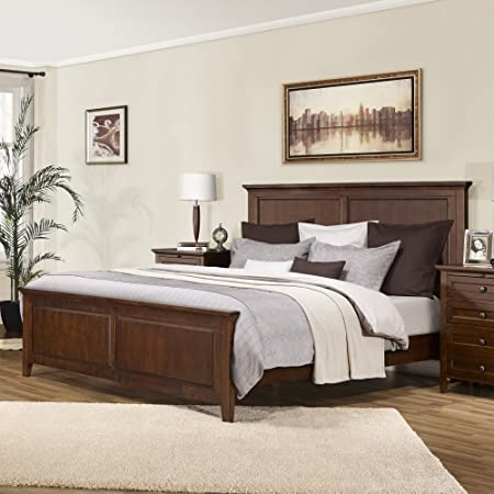 Queen Lifestyle Solutions Asti Platform Bed in Brandy