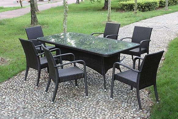 Tavolo Ibiza rettangolare misura 200x110 colore caffe struttura alluminio