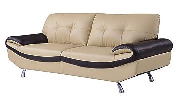 Global Furniture Natalie Sofa, Cappuccino and Chocolate