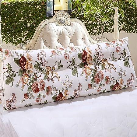 LQQGXL,cuscino, Cuscini triangolari in stile rurale cuscini triangolari sfoderabile in letto matrimoniale ( Colore : 4 , dimensioni : 100*20*50cm )