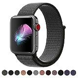 HILIMNY Compatible for Apple Watch Band 42mm, New Nylon Sport Loop, Adjustable Closure Wrist Strap, Replacement Band Compatible for iwatch (42mm, Dark Olive) (Color: Loop-darkolive, Tamaño: 42 mm)