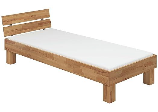 Extra lungo letto 90x220 in Faggio Eco laccato con assi di legno e materasso 60.80-09-220 M