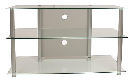 VCM Onata - Mueble para TV, cristal claro