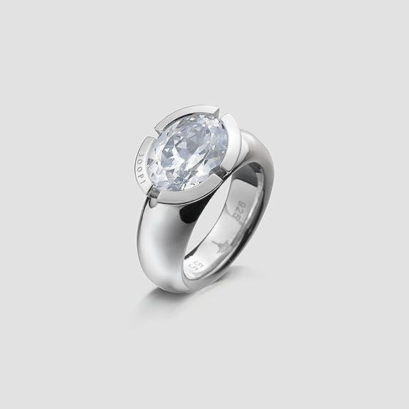 Joop JPRG90335 A550 Women's Ring 925 Silver Round CZ JPRG90410A transparent