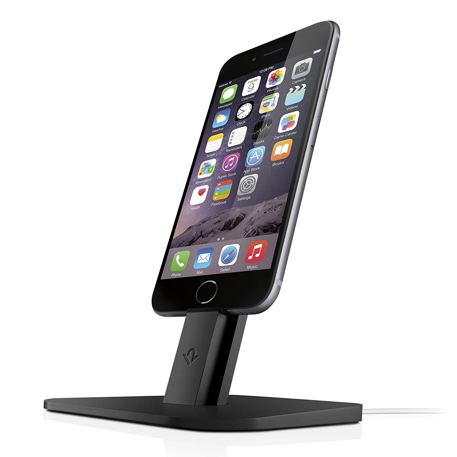 Twelve South HiRise for iPhone/iPad mini, black | Adjustable charging stand, requires Apple Lightning cable