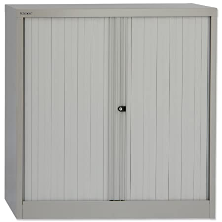 Bisley Tambour Cupboard Steel Side-opening W1000xD470xH1016mm Grey Ref AST40W-73