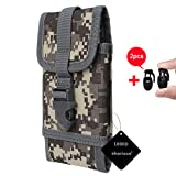 xhorizon SR Tactical MOLLE Cellphone Holster, Universal Army Mobile Phone Belt Pouch EDC Security Pack Carry Accessory Kit Pouch Belt Loops Waist Bag for iPhone 8 7/7S Plus and other Smartphones