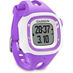Garmin Forerunner 15 GPS Running Watch and Activity Tracker - Violet/White