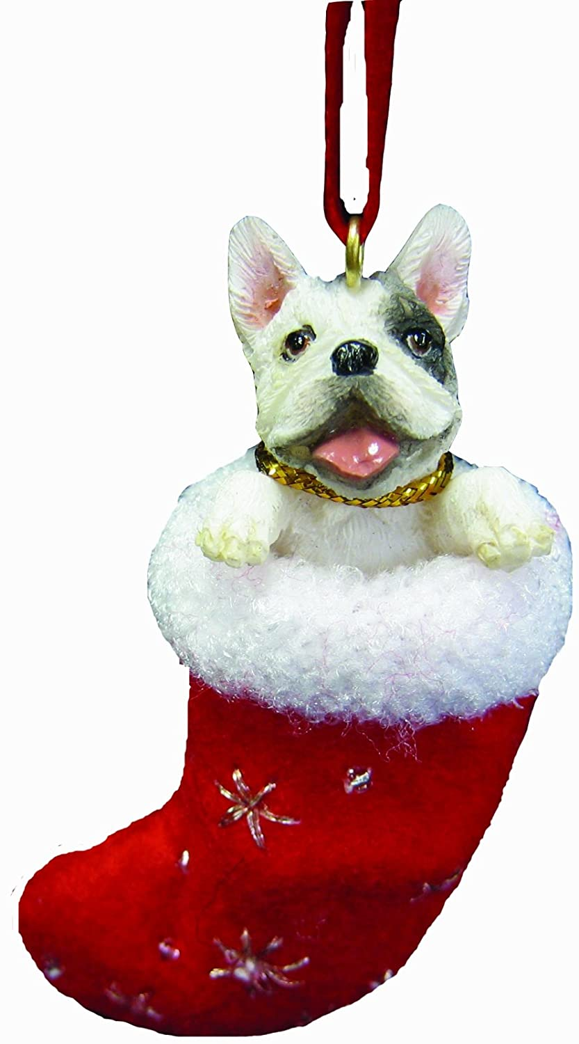 Christmas Stocking Dog Ornament
