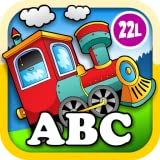 Kids Animal Train: Preschool and Kindegarten Learning Matching and Reading Adventure - ABC First Word Educational Games for Toddler Loves Farm and Zoo Animals & Colors (Abby Monkey® edition)