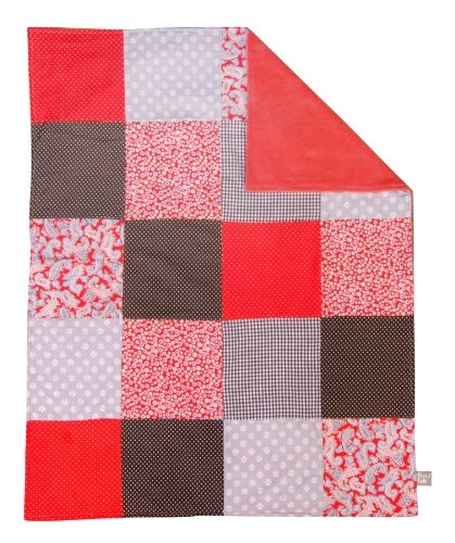 Trend Lab Multi-Patched Receiving Blanket, Chocolate Kiss (Discontinued by Manufacturer) - 1