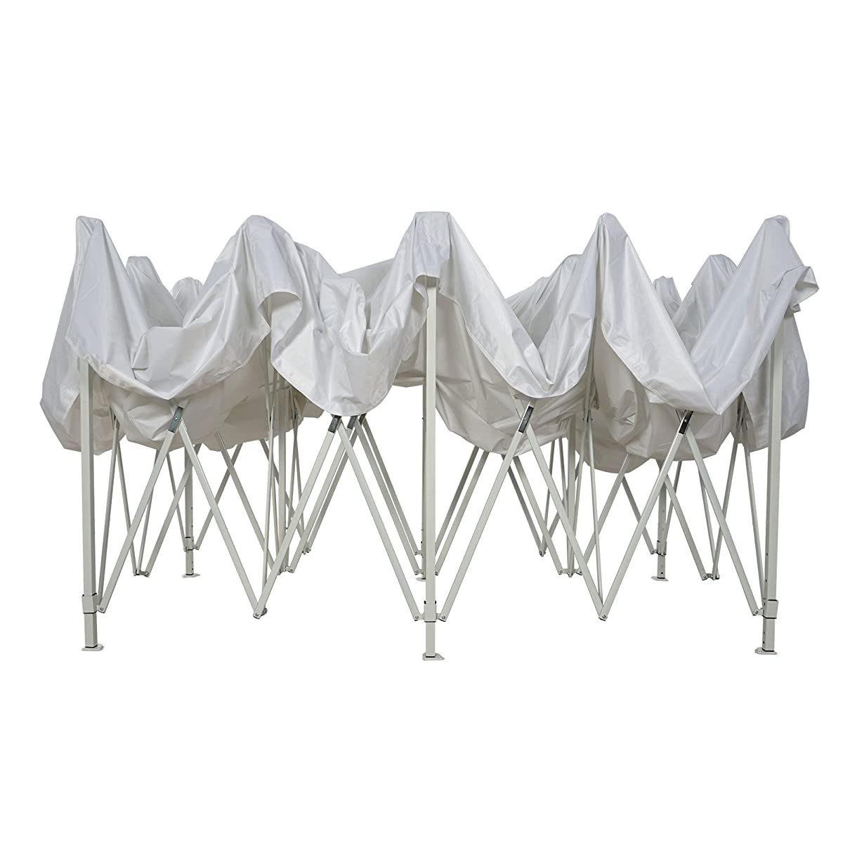 Patio Commercial Canopy White Steel Frame Heavy Duty Pop Up Party Festival Instant Shelter Canopy (10 x 20 Feet, White)