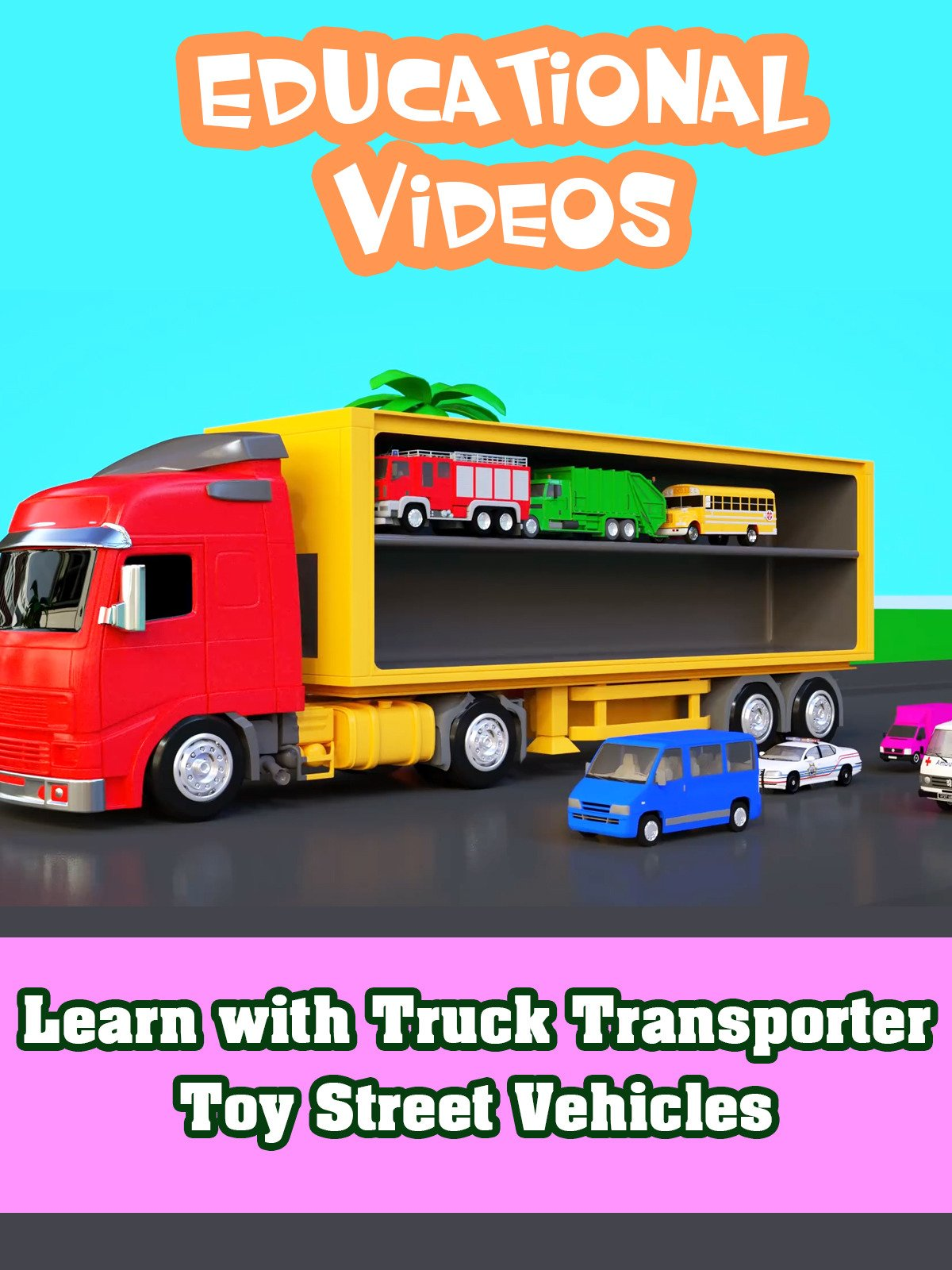 Learn with Truck Transporter Toy Street Vehicles