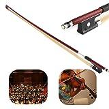 Professional 4/4 Brazilwood Ebony Frog Violin Arbor White Horsehair Violin Bow (4/4 Brazilwood) (Tamaño: 4/4 Brazilwood)