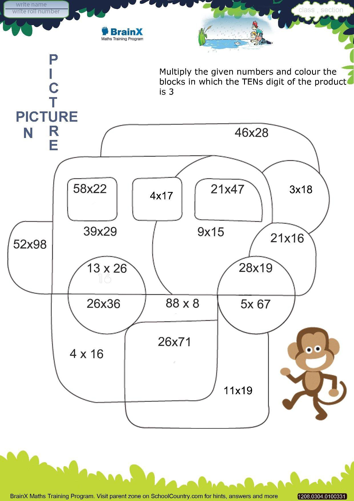 Maths Activities For Grade 3 Scalien – Maths Worksheets for Class 3