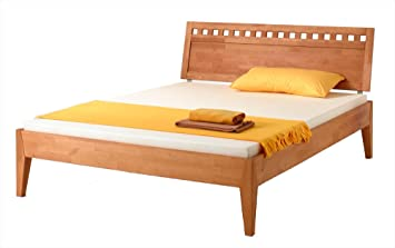 MS-Schuon Bett Varia mit Kopfteil 5 Buche massiv, geölt - Grösse 100x200