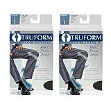 Truform Men's Knee High 15-20 mmHg Compression Dress Socks, Brown, Medium (Pack of 2)
